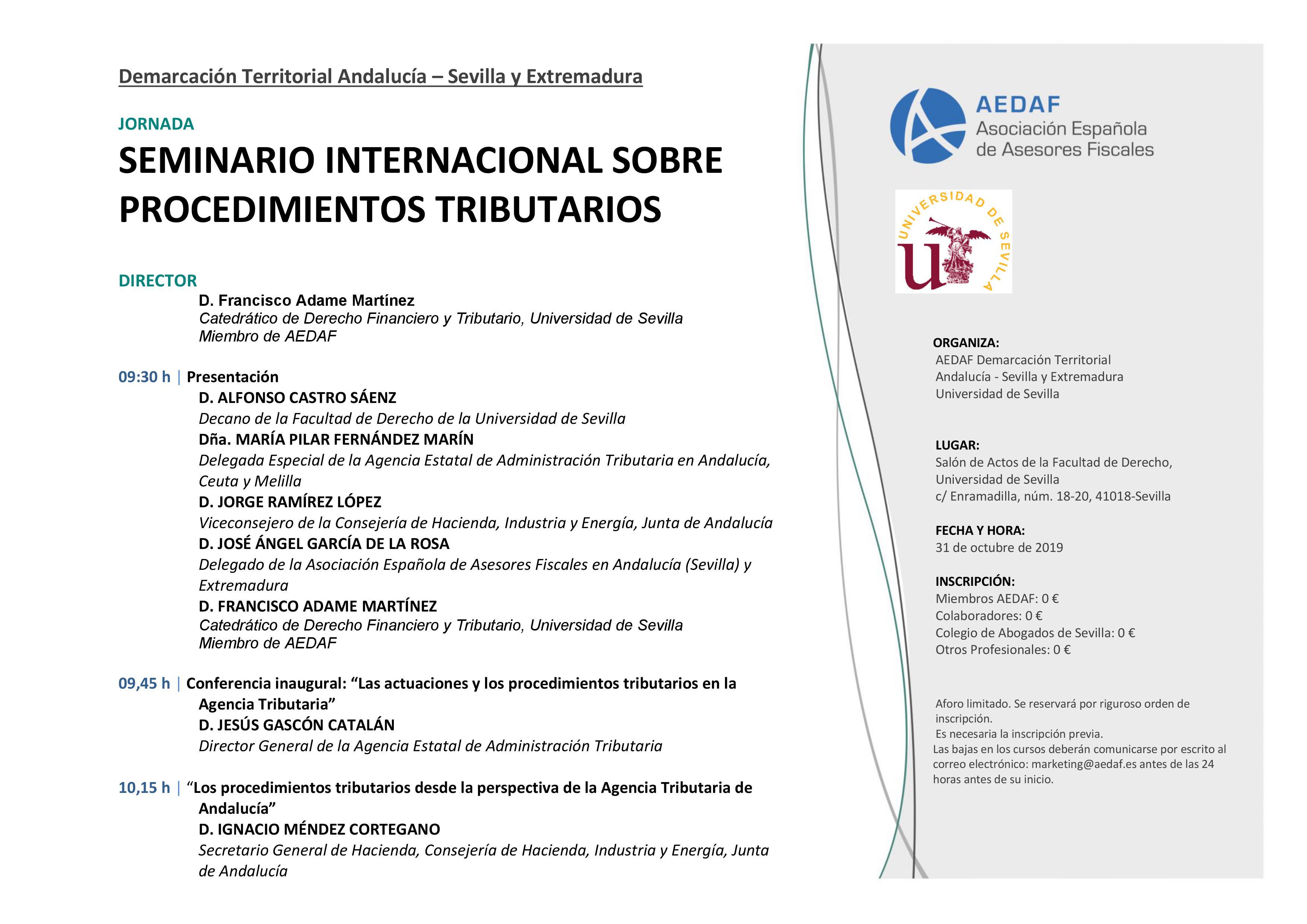 SEMINARIO INTERNACIONAL SOBRE PROCEDIMIENTOS TRIBUTARIOS